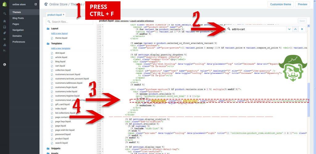 find-insert-code-shopify